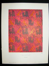 Gazette du Bon Ton 1920 Art Deco Interior Design Litho. La Jungle